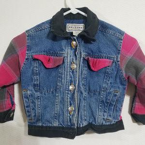 Arizona Jean Co Girls 4 Denim Jean Pink Jacket
